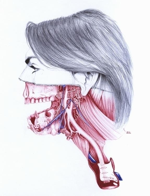 Anatomy - portrait, anatomy, pen - zasa-6052 | ello