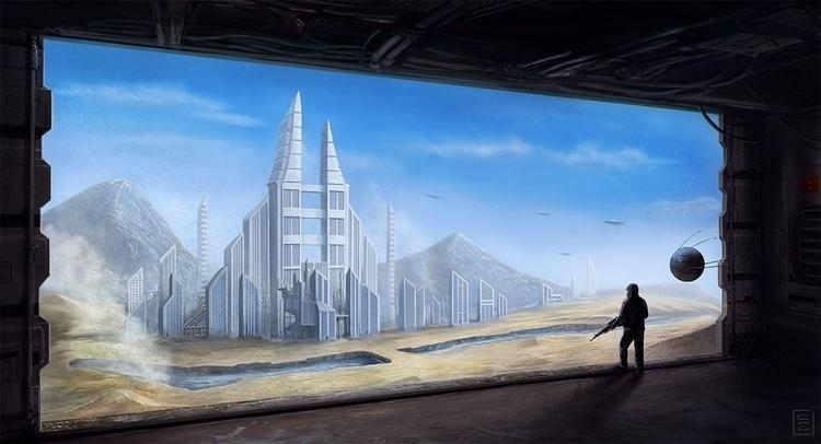 Outpost SLB-46 - sci-fi, conceptart - shadothezombie | ello