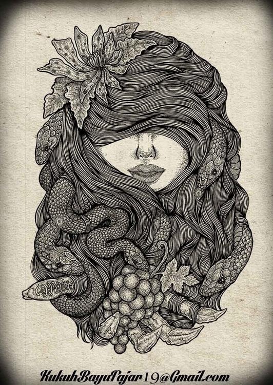 Cursed Grapes - vhayu19, drawing - vhayu19 | ello