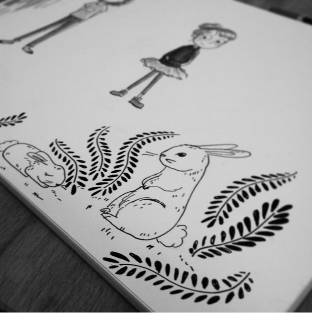 Doodling - doodle, sketchbook, rabbit - evapointpsd | ello