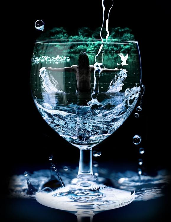 Waterman - digitalart, photomontage - courtneyaverett | ello
