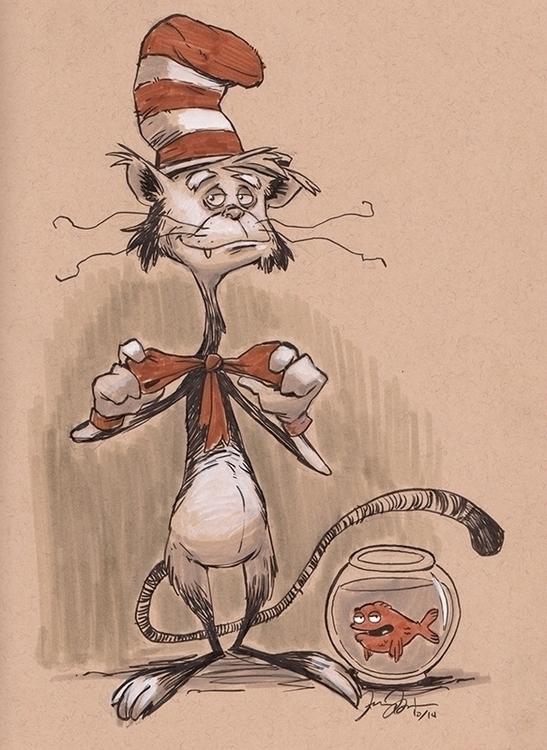 Inktober Oct 19 - Cat Hat - inktober - dannybeckart | ello