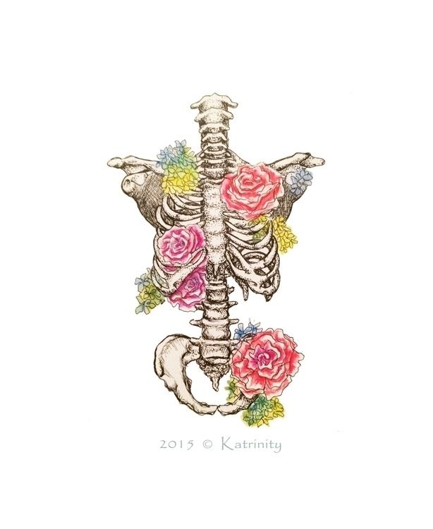 Skeleton - katrinityart, art, watercolor - katrinity-1318 | ello