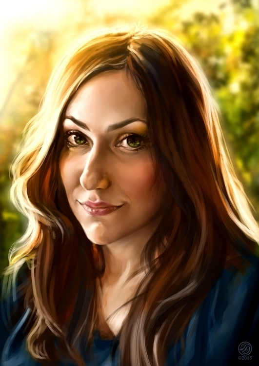 Real Life Portrait - painting, drawing - catherinesteuer | ello