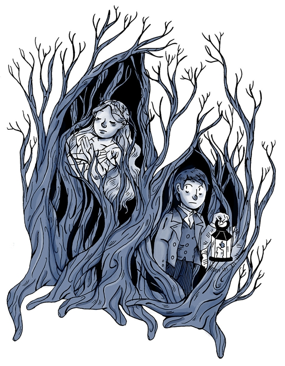 deadtree house pinup - illustration - norathebean | ello