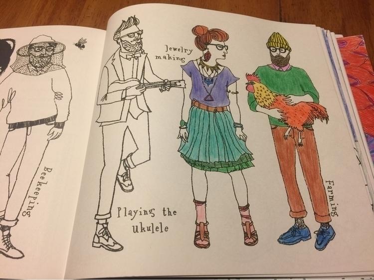 Hipster coloring book - adriz | ello
