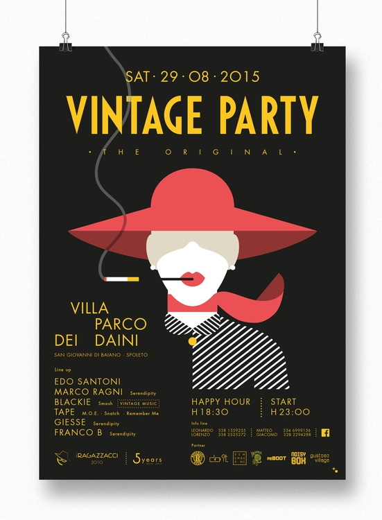 Vintage Party 2015 - illustration - maestroambrosiano | ello