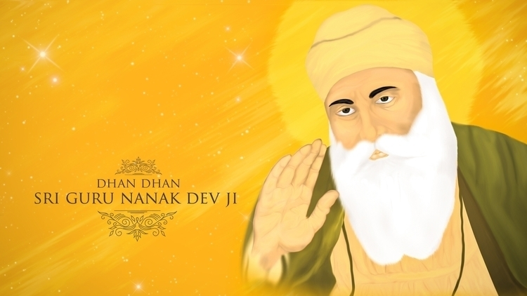 Shri Guru Nanak Dev Ji - painting - aman_d_singh | ello