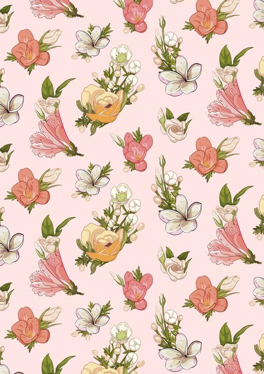 Flowers - illustration, drawing - elinanovak | ello