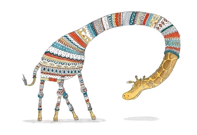 watercolor, animal, sweater, children'sillustration - ohtruth-6991 | ello