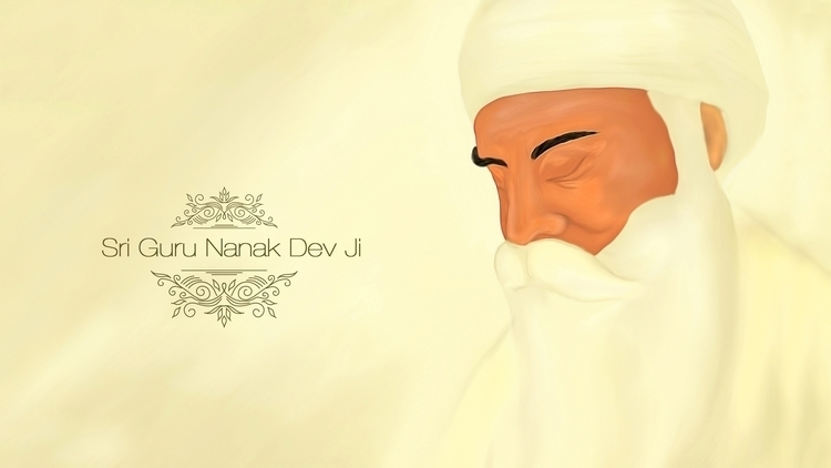 Shri Guru Nanak Dev Ji - illustration - aman_d_singh | ello