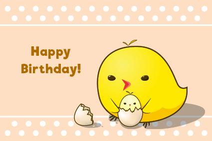 Birthday Chick Simple birthday  - avocatdo | ello