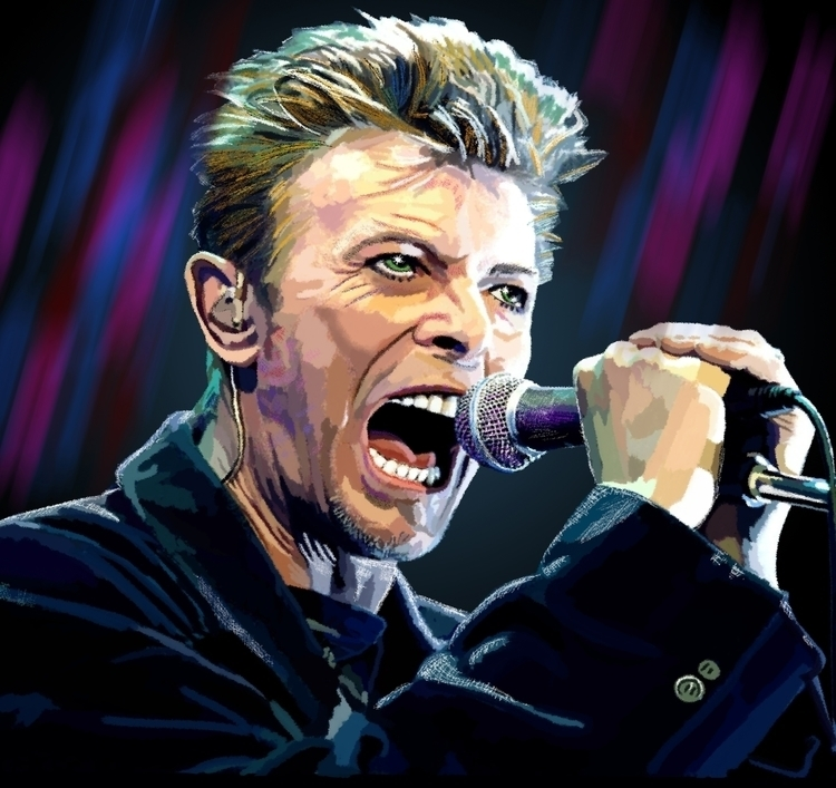 homage legend David Bowie, digi - rigabow | ello