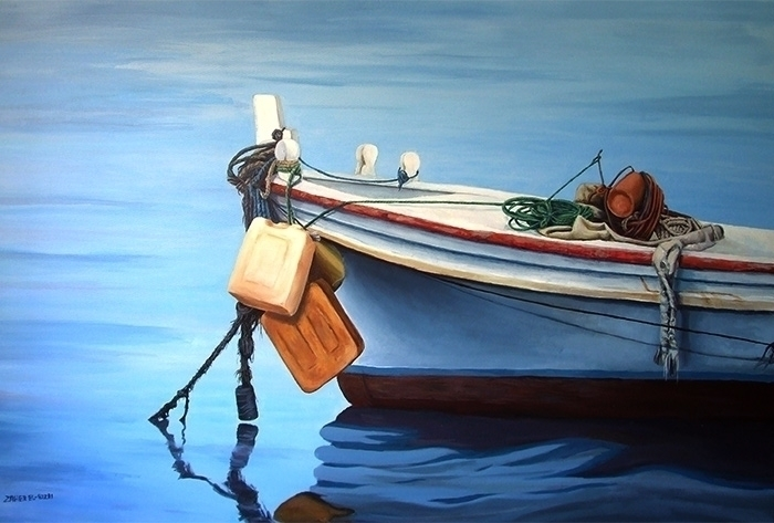 Boat Acrylic canvas, 120x90cm.  - zaherbizri | ello