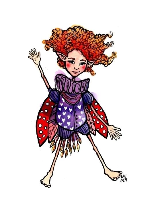 Whimsy Waves - fairy, doodlesmudge - theartoflauren | ello