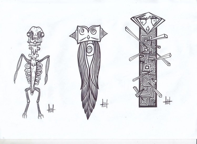 totems designs 26-28 - h3ml0ck, h3ml0cksketch - h3ml0ck | ello