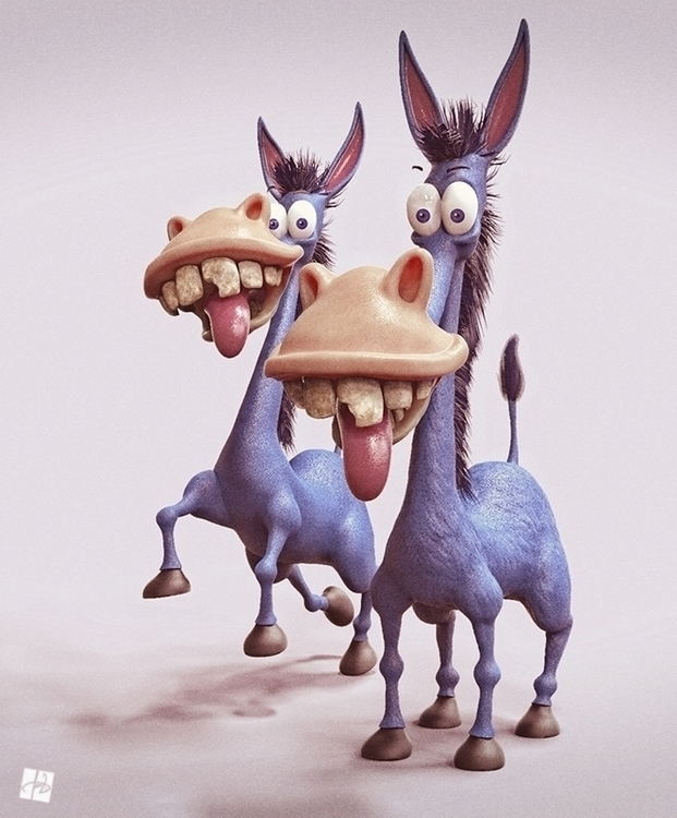 Funny donkey character design i - tomjestic | ello