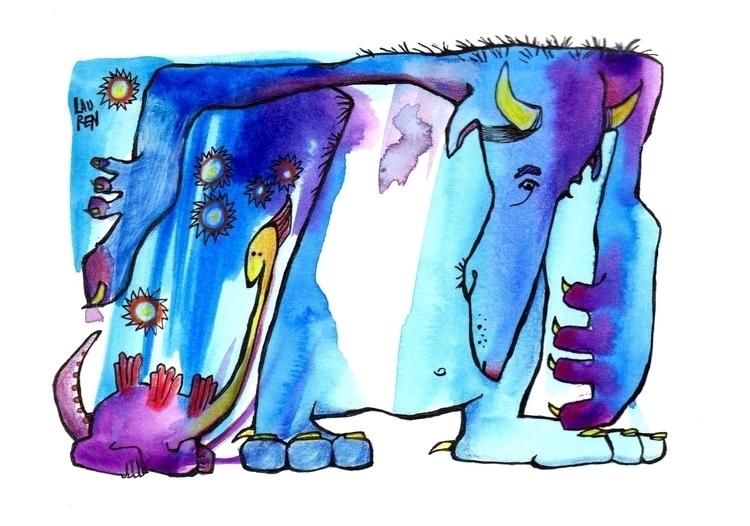 Blueback, Long Face - doodlesmudge - theartoflauren | ello
