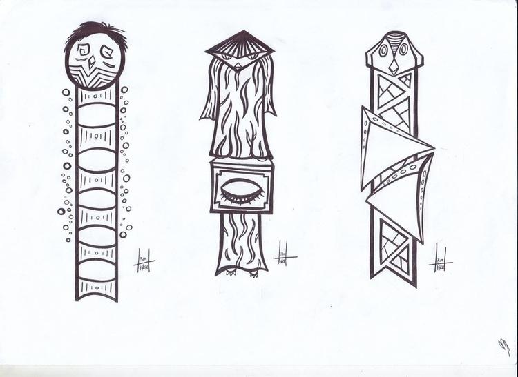 totems designs 20-22 - illustration - h3ml0ck | ello