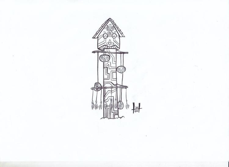 totems design 1 - cuckooclock, cuckooowl - h3ml0ck | ello