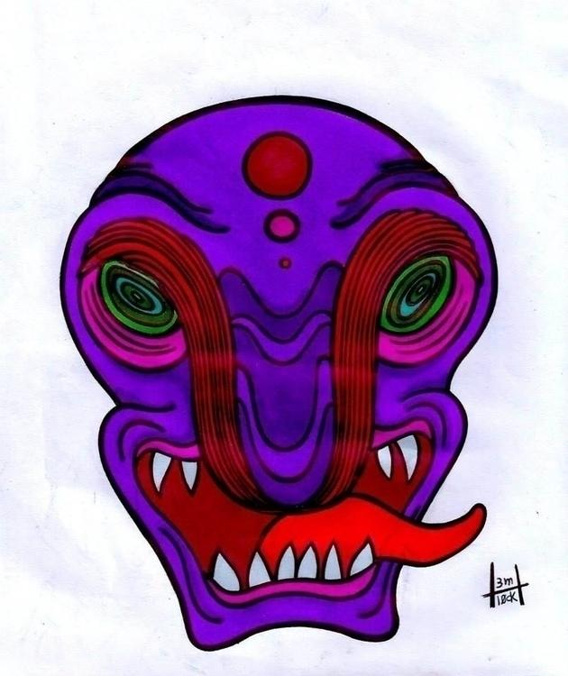 Alienation - illustration, alienation - h3ml0ck | ello