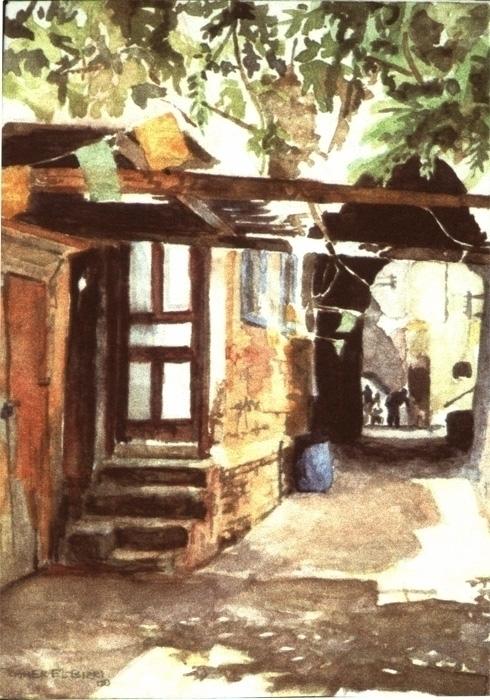 Abu Nakhleh Street Watercolors  - zaherbizri | ello
