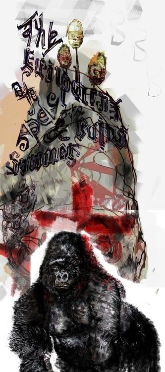 apes, illustration - robinsonwhite | ello