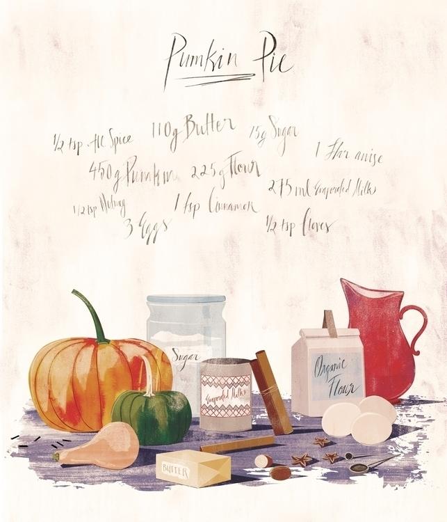 Pumpkin Pie, Thanksgiving illus - mathildaholmqvist | ello