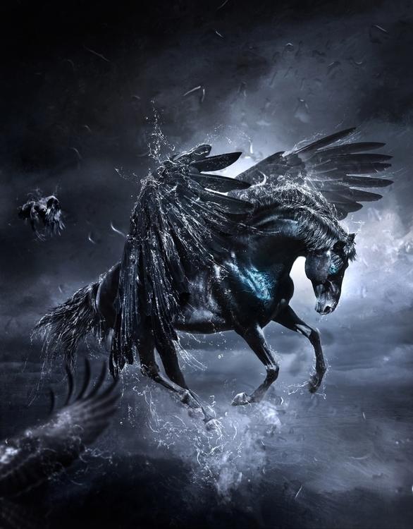 Rise Pegasus - digitalart, digitalillustration - pboro | ello