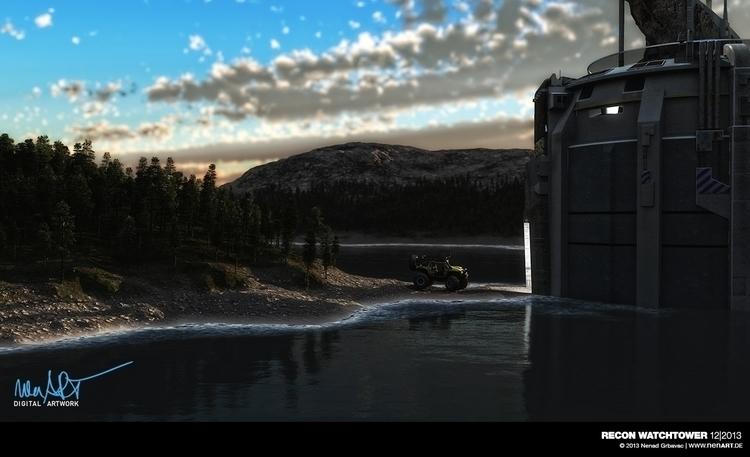 Recon Watchtower Posed DAZ3D St - nenart   ello
