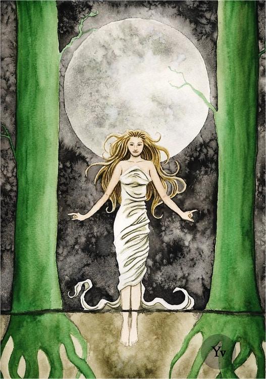 'Awakening Moon', 32 24 cm, wat - dutchpagan | ello