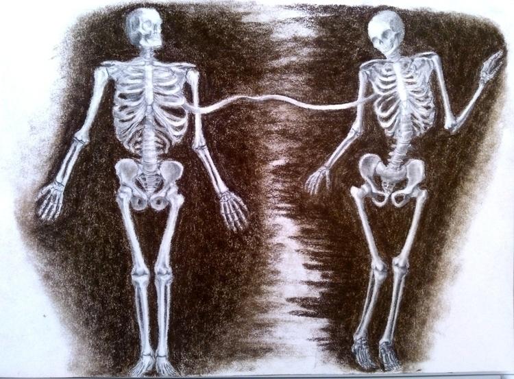 rib Adam - sketch, sketchbook, skeleton - emilygrobler | ello