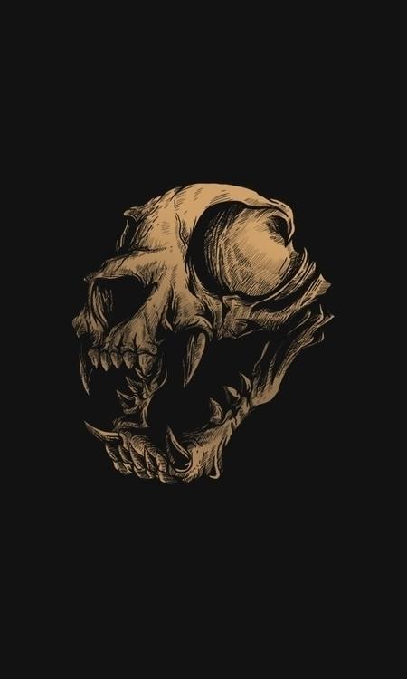 grunge cat skull watch - design - badsyxn | ello