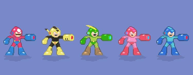 Megaman fanart - marioman, pika - planckpixels | ello