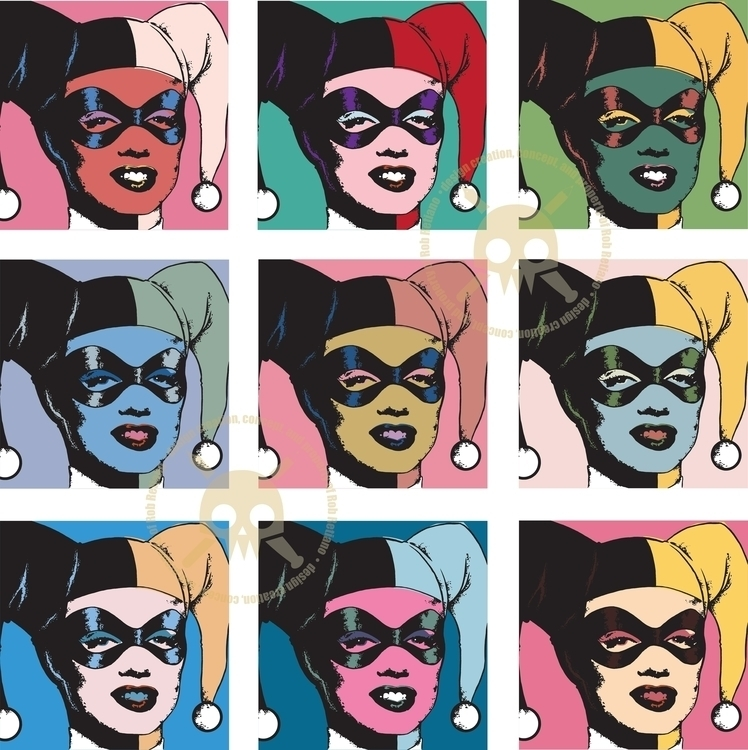 Harley Warhol - illustration, parody - robretiano | ello
