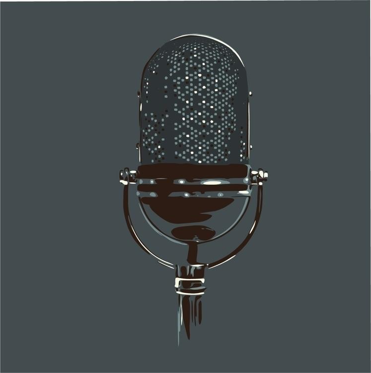 Microphone - microphone, mic, blue - sga-2444 | ello