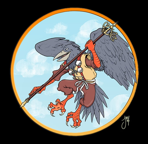Tengu - illustration, Folklore, japanese - jasonmartin-1263 | ello