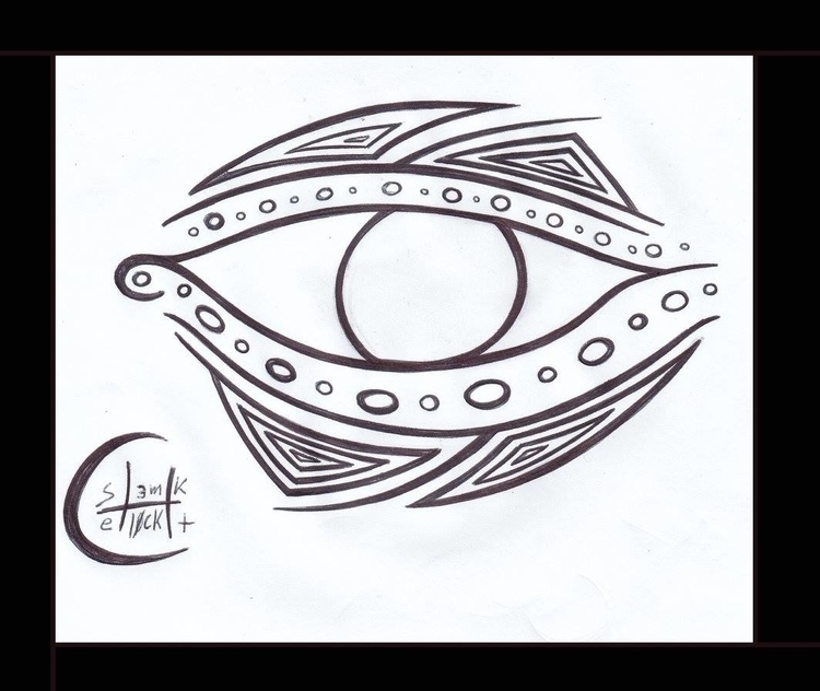 Mandala Eye - sketch, design, tattoodesign - h3ml0ck | ello