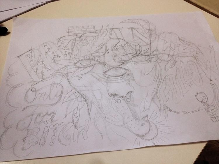 drawing, lettering, calligraphy - simonerossini   ello