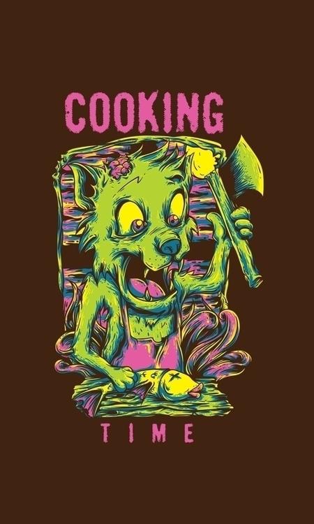cooking time.. watch  - design, vector - badsyxn | ello