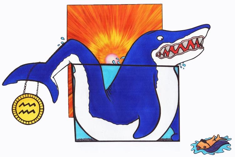 Aquarius - aquarius, zodiac, zodiacdesign - h3ml0ck | ello