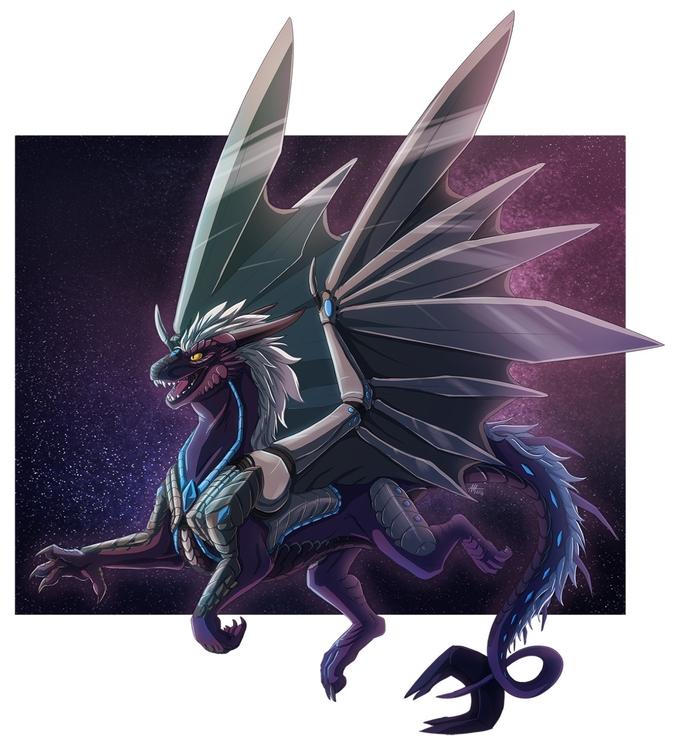 Commission space dragon! lot fu - madmeeper   ello