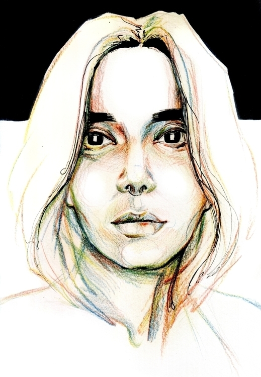 illustration, painting, portrait - annagosteva | ello