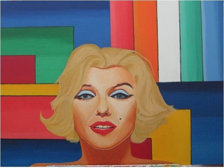 BEAUTIFUL MARILYN ACRYLIC/ WOOD - kingrat-7292 | ello