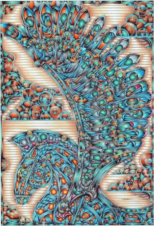 Pegasus. Colour pencil paper - pegasus - jamielawrence | ello