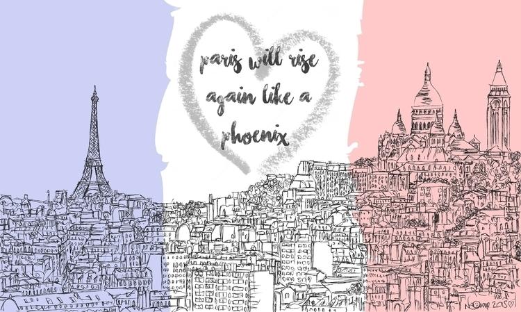 Paris Skyline - tribute atrocit - naomiaustin | ello