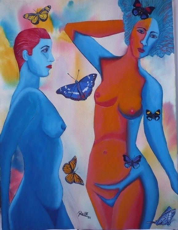 BLUE LADIES MIXED TECHNIQUE/ PA - kingrat-7292 | ello