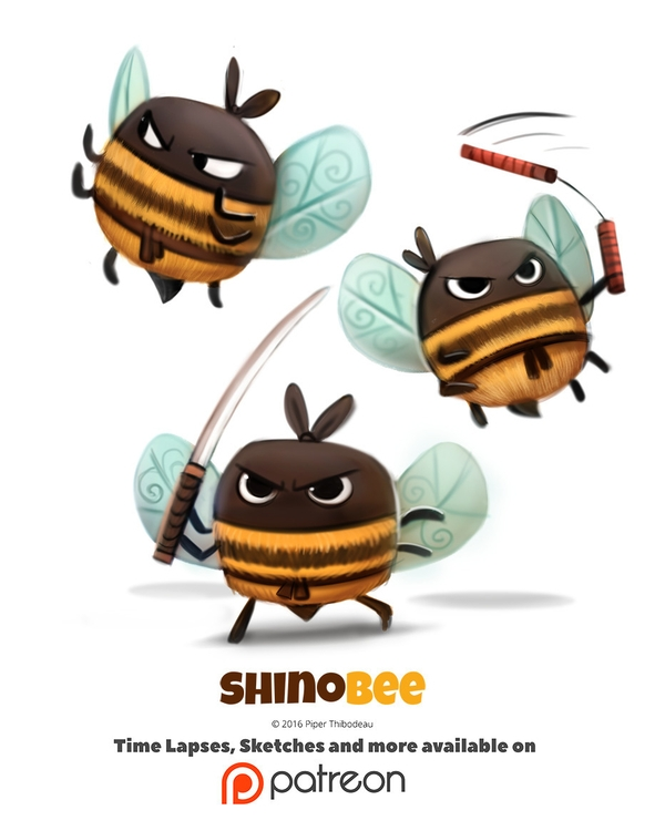 Day 1398. Shinobee - piperthibodeau | ello