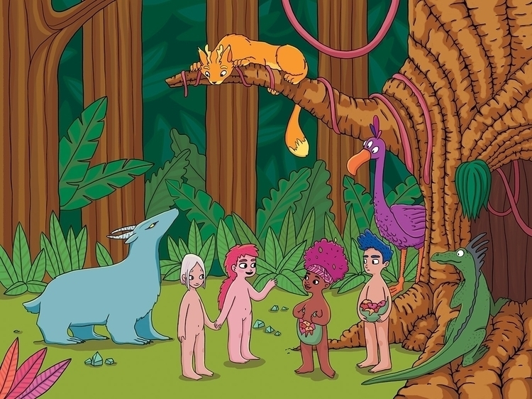 Meet tribe - wild, kids, children'sillustration - leyleyleu | ello