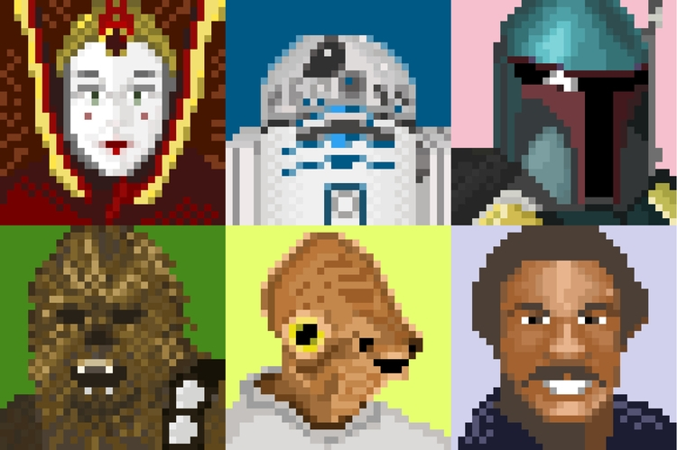 Starwars - pixelart, starwars, portrait - jesselane | ello